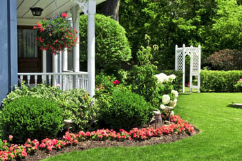 Landscaping with annual flowers in Fort Wayne.