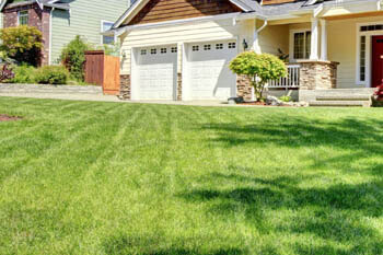 Fort Wayne home with a professionally mowed and maintained lawn.